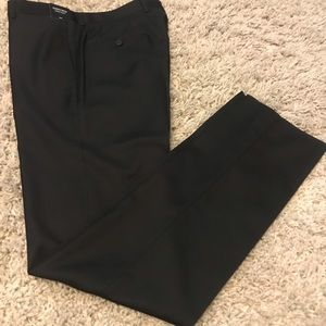 Nordstrom Men's Shop Flat Wool Dress Pants